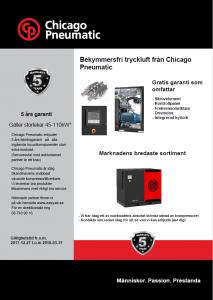Bekymmersfri tryckluft från Chicago Pneumatic